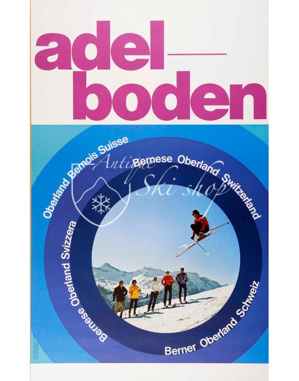 Vintage Swiss Ski Poster : ADELBODEN