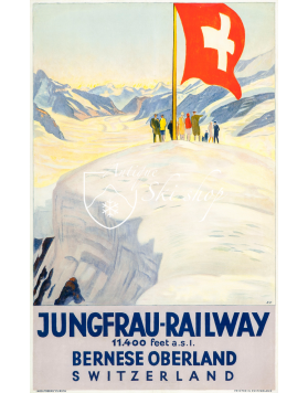Vintage Swiss Travel Poster : JUNGFRAU RAILWAY
