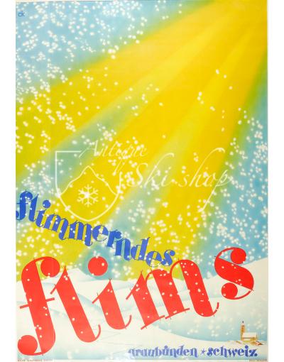 Vintage Swiss Ski Poster : FLIMS