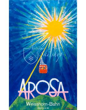 Vintage Swiss Ski Resort Poster : Arosa Weisshorn Bahn
