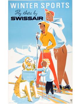 WINTER SPORTS - SWISSAIR (Print)