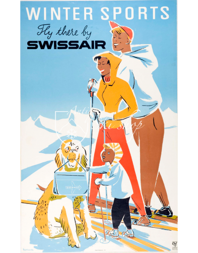 WINTER SPORTS - SWISSAIR (Print)