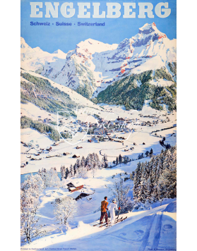ENGELBERG : MOUNTAINS & VILLAGE (Print)