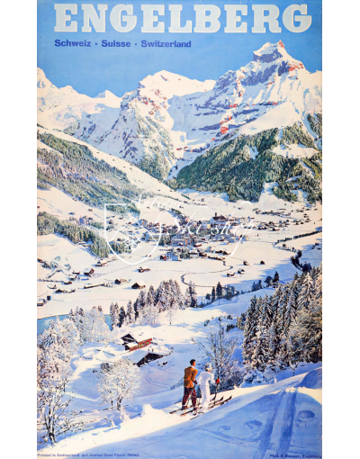 ENGELBERG : MOUNTAINS & VILLAGE (Print)