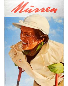 Vintage Swiss Ski Poster : MURREN