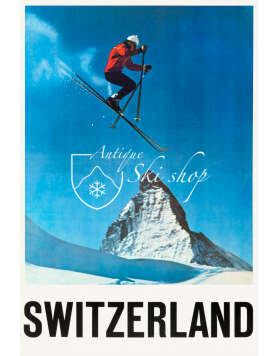 Vintage Swiss Ski Poster : ZERMATT (SOLD - PRINT AVAILABLE)