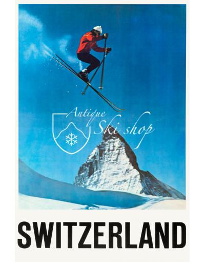 Vintage Swiss Ski Poster : ZERMATT (SOLD - PRINT AVAILABLE)