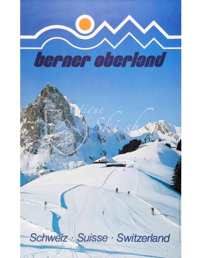 Vintage Swiss Ski Poster : BERNER OBERLAND
