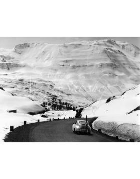 Vintage Car Photo - Porsche 356 on a Mountain Pass