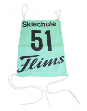 Antique Flims Ski School Race Bib Nr. 51