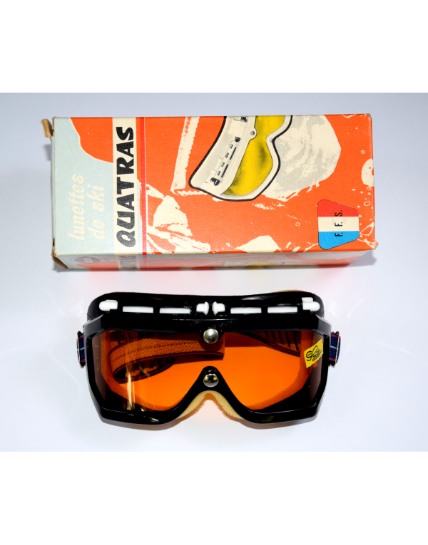 "NOS - Vintage ""LOUBSOL QUATRAS"" (Junior) Ski Goggles"