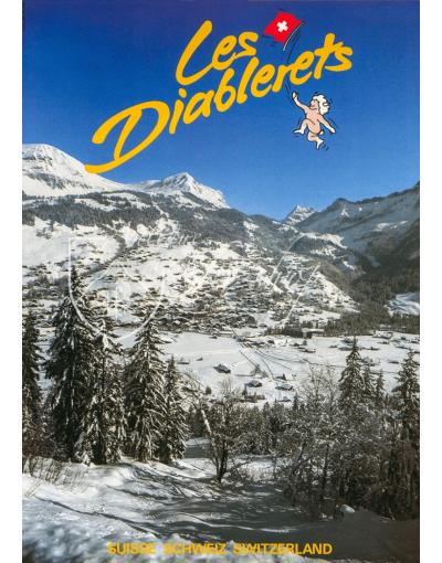 Vintage Swiss Ski Poster : LES DIABLERETS