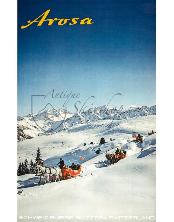 AROSA (Horses & Sleighs) Print