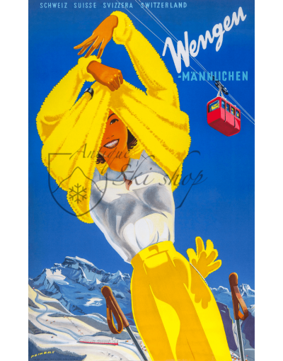 WENGEN (Woman in Yellow) Print