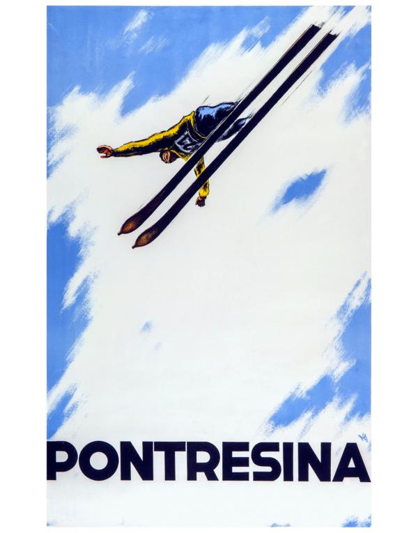 PONTRESINA (Ski Flyer) Print