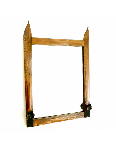 Vintage Style Ski Mirror (Square) / Miroir de ski vintage (carré) / Vintage Ski Spiegel (quadratisch)