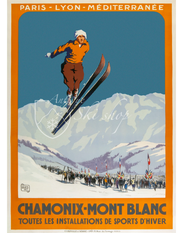 "CHAMONIX MONT BLANC ""SKI JUMP"" (Print available)"