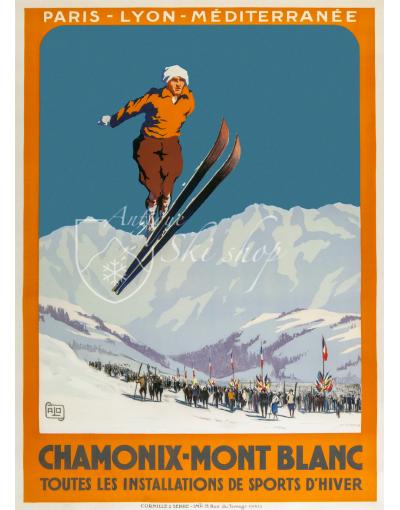"CHAMONIX MONT BLANC ""SKI JUMP"" (Print available)"