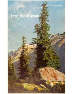 Vintage Swiss Ski Resort Poster : BERNER OBERLAND SCHWEIZ