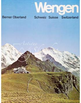 Vintage Swiss Ski Poster : WENGEN - BERNER OBERLAND