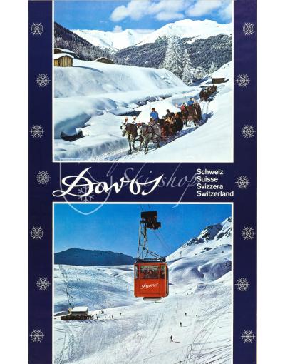 Vintage Swiss Ski Poster : DAVOS (2)