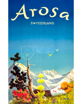 Vintage Swiss Ski Resort Poster : AROSA - SUMMER