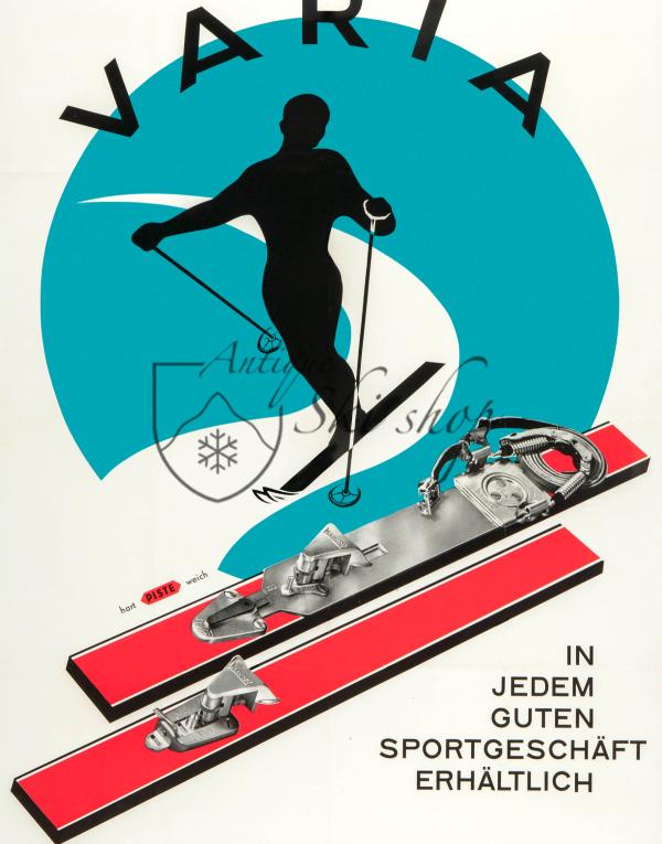 Vintage Ski Poster : VARIA SKI BINDINGS