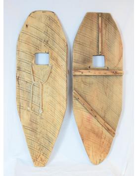 Antique handmade Indian Snowshoes / Raquettes a neige Vintage / Vintage Schneeschuhe