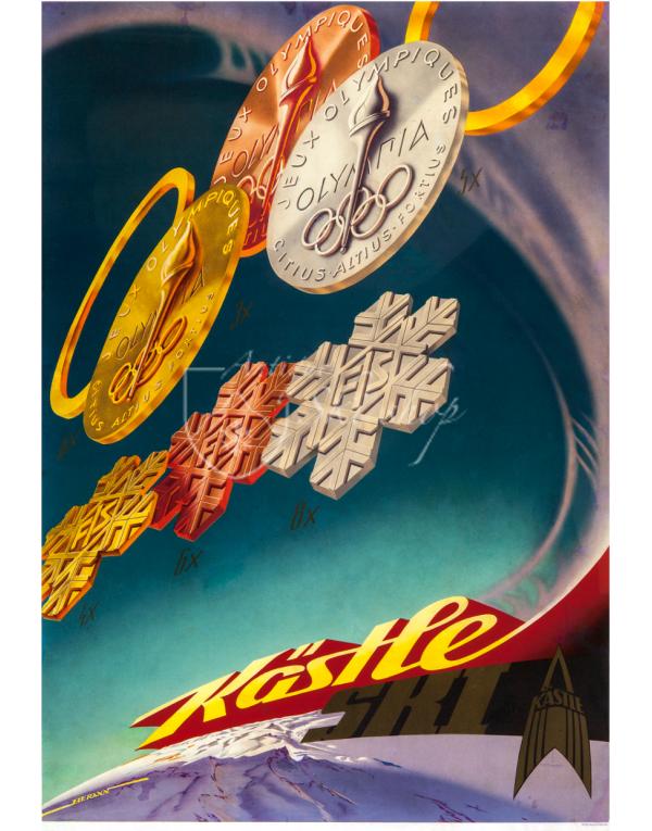 Vintage Ski Poster : KASTLE SKI (Medals)