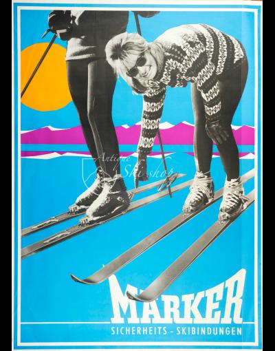 Vintage Ski Poster : MARKER SKI BINDINGS