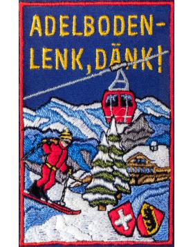 Vintage Swiss Ski Resort Poster : ADELBODEN-LENK, DANK!