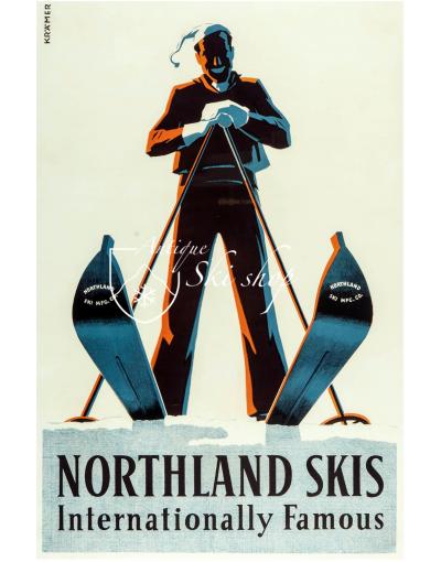 Vintage Ski Poster : NORTHLAND SKIS