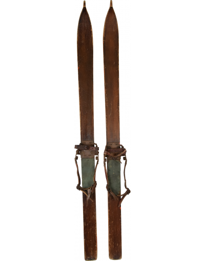 Antique Swiss Children Skis (Unrestored)