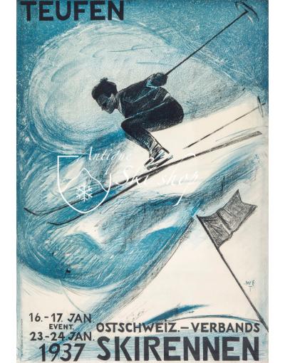 Ostschweiz Verbands Skirennen Teufen 1937