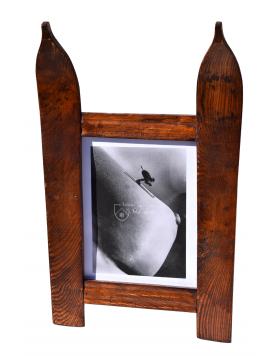 Single Panel Ski Frame / Cadre photo ski vintage / Bilderrahmen Vintage Ski