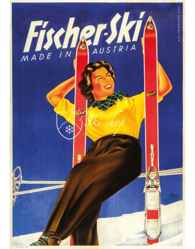 Vintage Ski Poster : FISCHER SKI