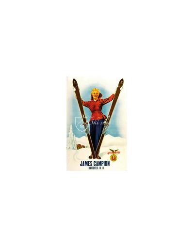 Vintage Ski Poster - JAMES CAMPION