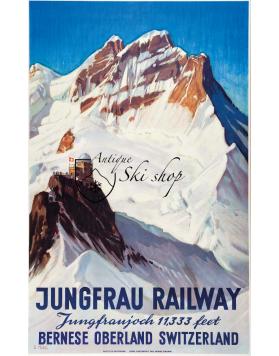 Vintage Swiss Travel Poster : JUNGFRAU-BAHN
