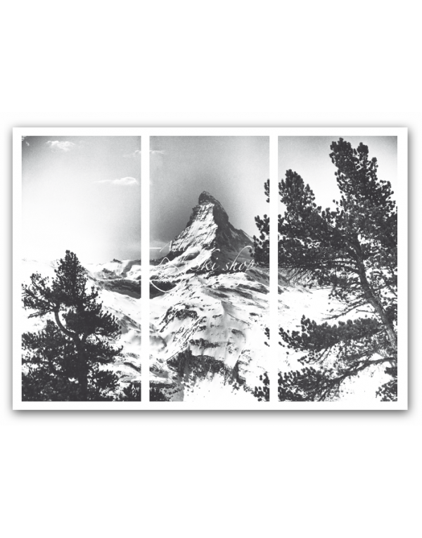 "Three panel ""Split Image"" on Canvas - Matterhorn"