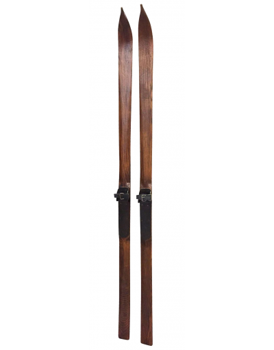 Replica 1940's Ash Wood Skis