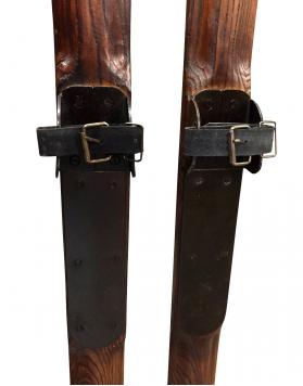 Replica 1940's Ash Wood Skis