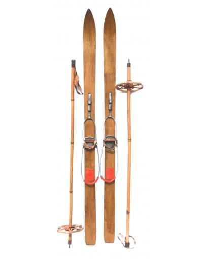 Antique Children Skis (Unrestored)