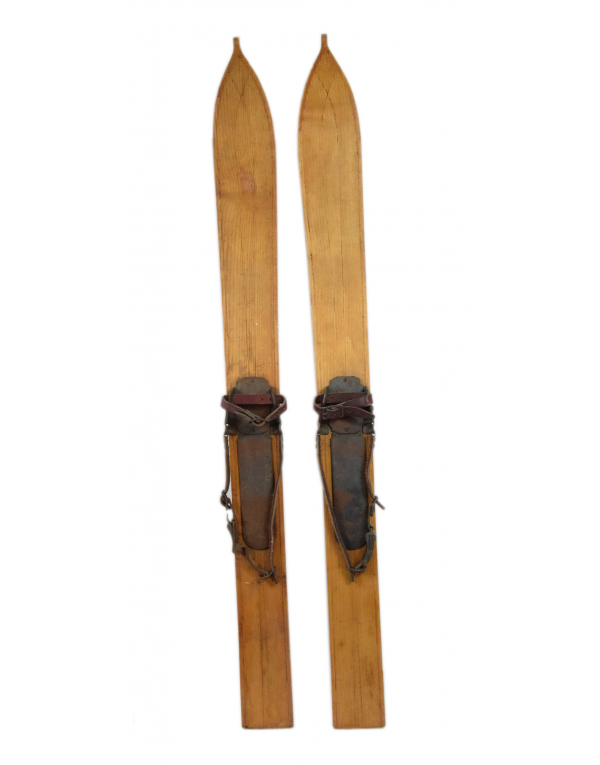 "Antique Swiss ""FAT BOY"" Skis (Unrestored)"