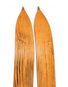 Antique 1930 Swiss Skis (Restored)