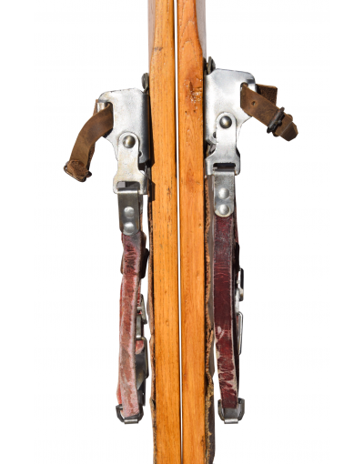 Antique 1930 Swiss Skis (Restored)