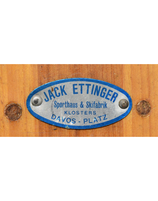 "Antique Swiss ""JACK ETTINGER"" Skis (Unrestored)"