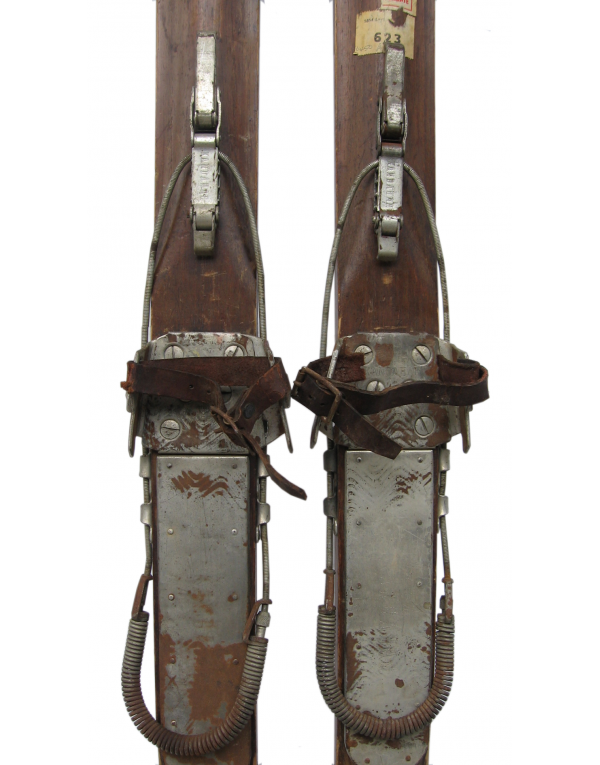 """Antique Unrestored Swiss """"JAKOBER"""" Skis (Ships only within Switzerland)"""