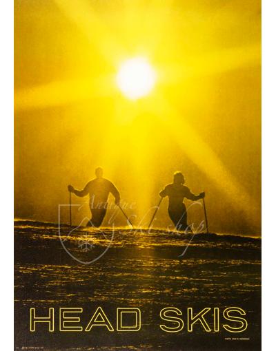 Vintage Ski Poster : Head Skis (Skiers)