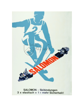 Vintage Ski Poster : Salomon  Bindings