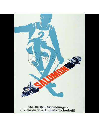 Vintage Ski Poster : Salomon  Bindings
